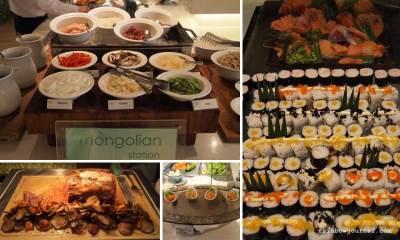 Mongolian, Sushi ang Carving station Midas Café Buffet at Midas Hotel and Casino