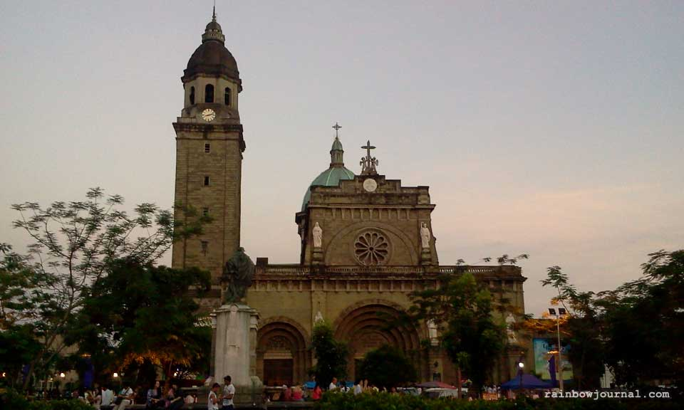 The Cathedral-Basilica of the Immaculate Conception, informally known as Manila Cathedral