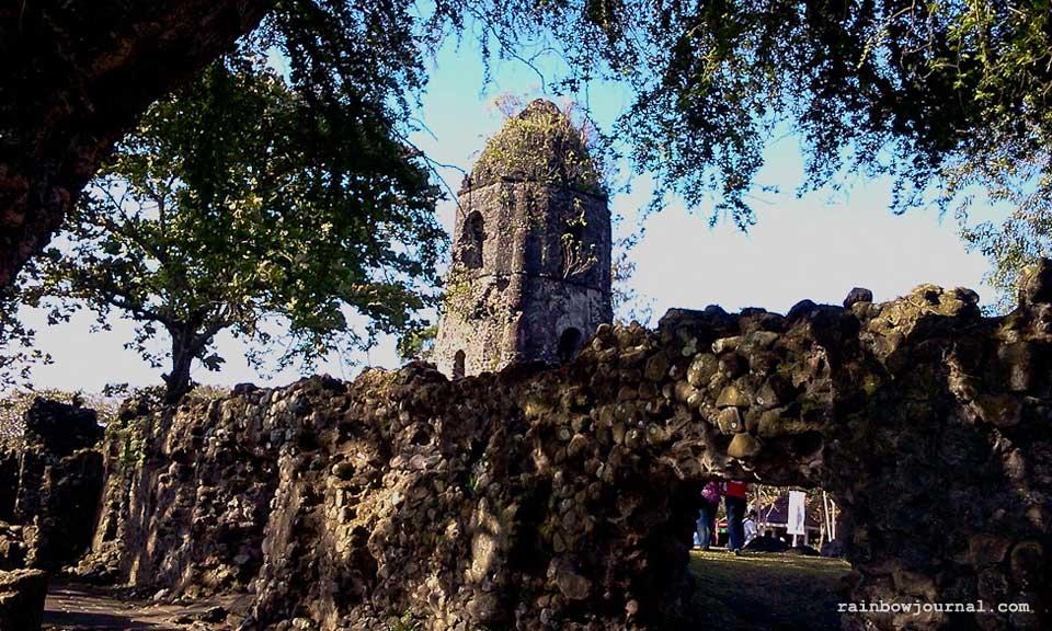 Iconic Cagsawa ruins near Legazpi City, Albay
