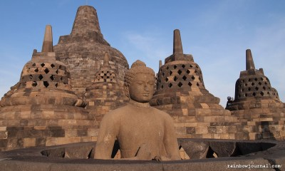 Stupas at the Majestic Borobudur temple in Indonesia