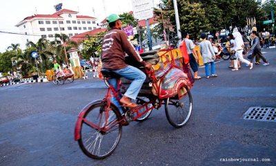 Becak at Malioboro Street, Yogyakarta, Indonesia