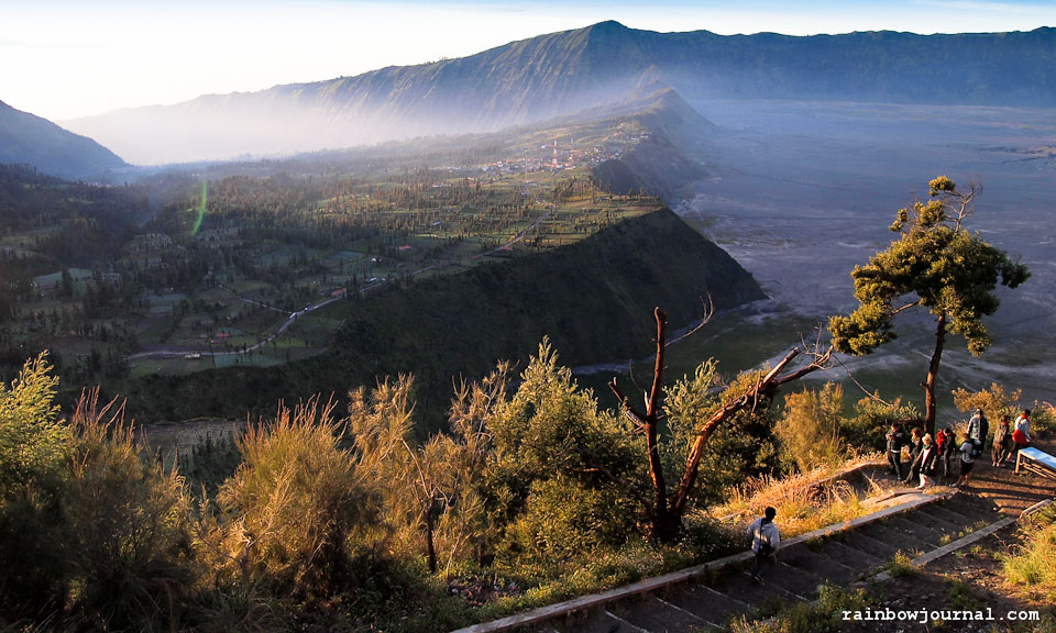 Steps to viewing deck of Mt Bromo Sunrise tour, Indonesia