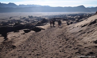 Crossing the Sea of Sands, Mt. Bromo Sunrise Tour, Indonesia