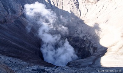 Mt. Bromo's crater in Indonesia