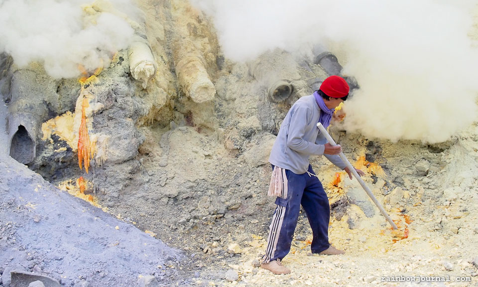 Miners of Kawah Ijen in Indonesia