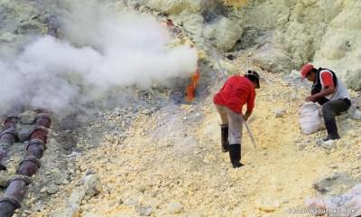 Miners of Kawah Ijen in Indonesia