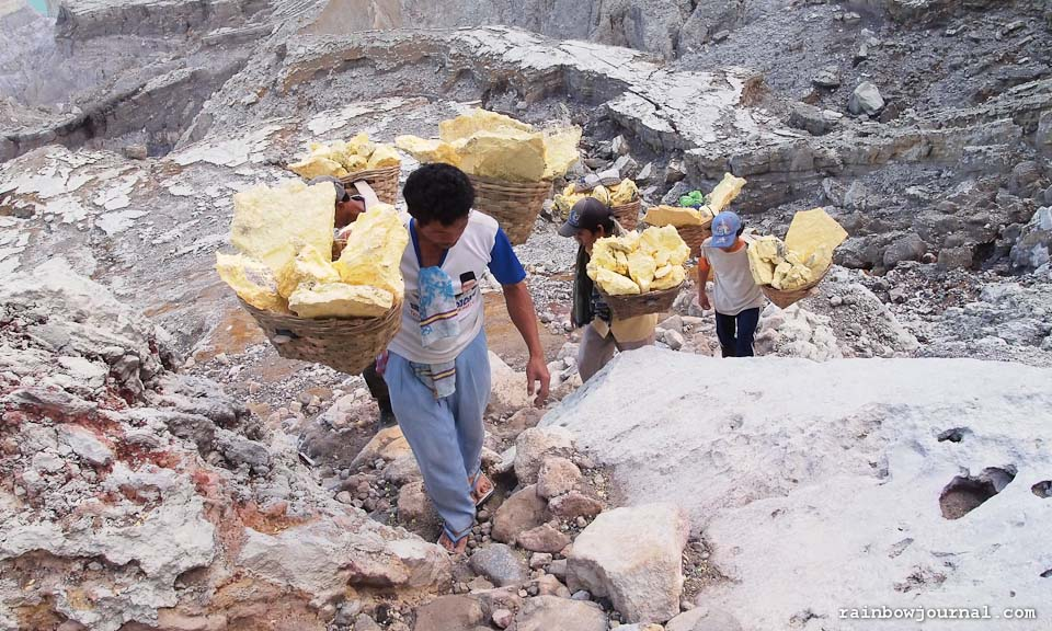Sulfur Miners of Kawah Ijen in Indonesia