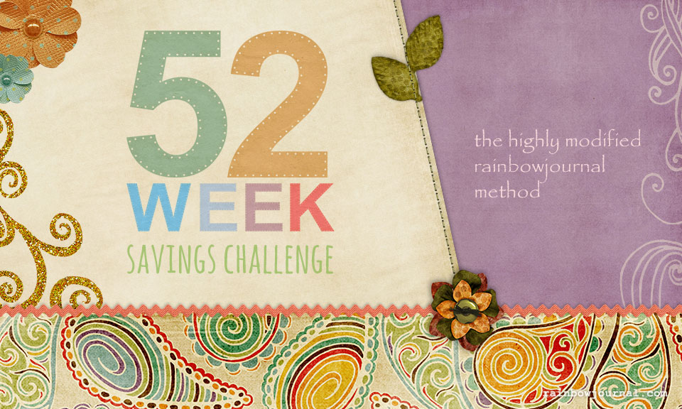 The 52-Week Savings Challenge: The Highly Modified Rainbow Journal Method