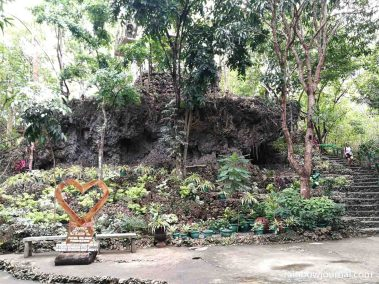 One of the many gardens and pathways inside Enchanted Cave Resort in Bolinao