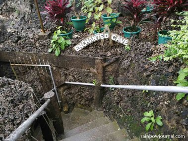 Steep steps leading to the cave pool of Enchanted Cave Resort Bolinao