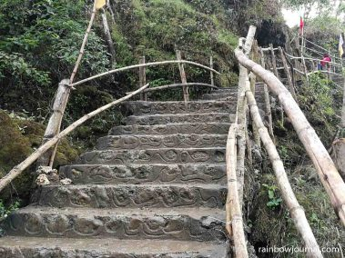 Steps leading down to Bolinao Falls 1