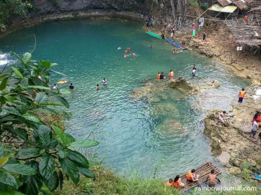 Natural pool below Bolinao Falls 1
