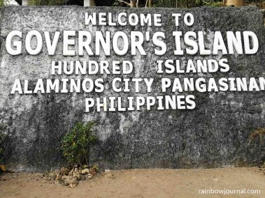 Our first stop during our Hundred Islands tour