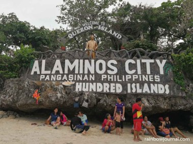 Quezon Island is where most tourists have their lunch