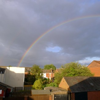 I looked out from my bedroom and saw a beautiful rainbow
