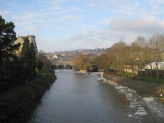 Blue River Avon and Blue sky