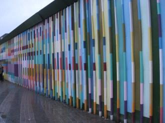 Rainbow wall near Nyhavn