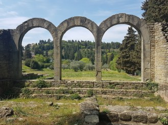 Greenery and Roman ruins in Fiesole
