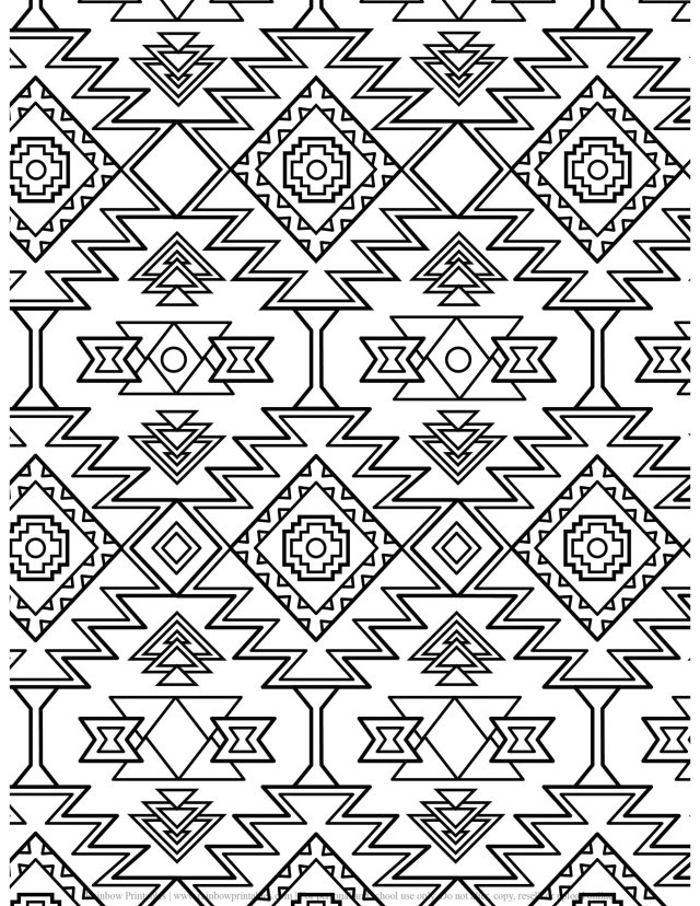 Pattern Kaleidoscope Coloring Pages - Rainbow Printables