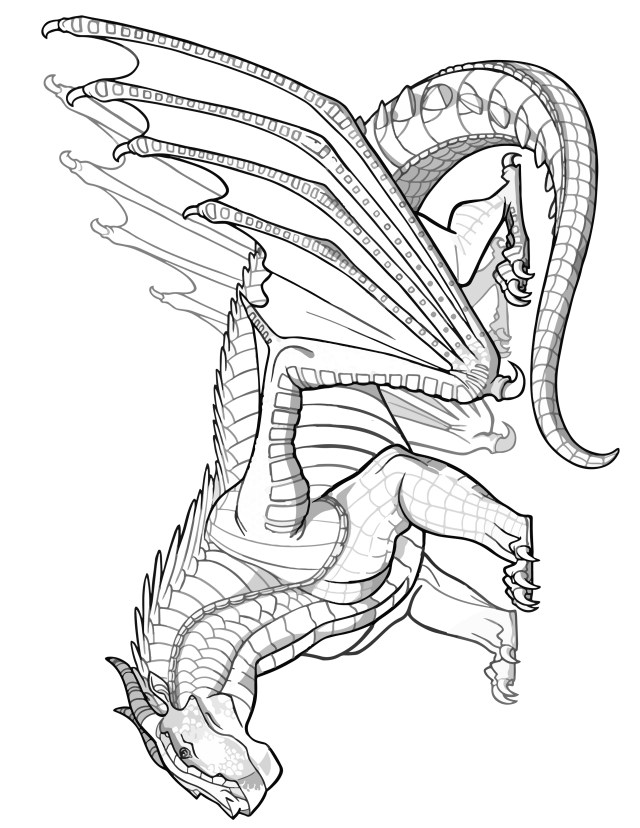 26 Wings of Fire Dragon Coloring Pages For Kids (Free Printable