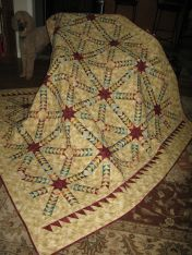Queen sized machine pieced and quilted