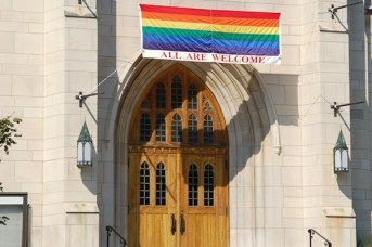 LGBTQ accepting churches are growing in number.