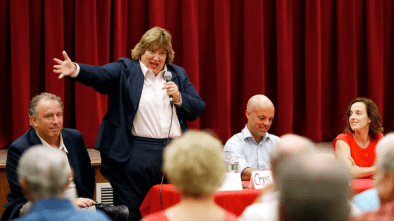 Christine Canning makes a point.