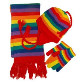 Winter Rainbow Accessories you can make yourself.
