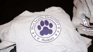 Screen printed spirit gear for West Seattle Elementary