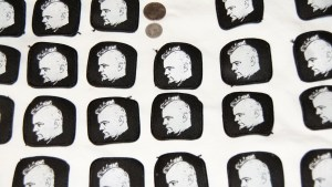 Screen printed patches.
