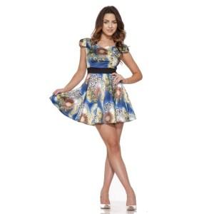 Peacock-Mini-Dress