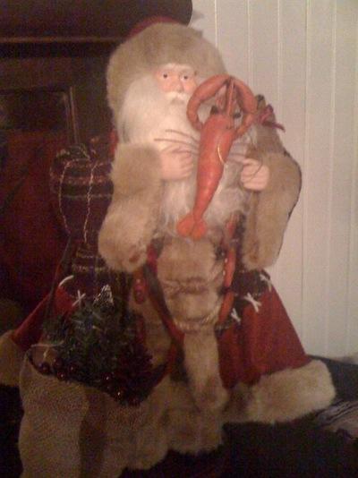 santa asks has Lobby been a good boy this year?