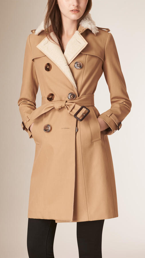 Burberry Prorsum Long Cotton Gabardine Trench Coat