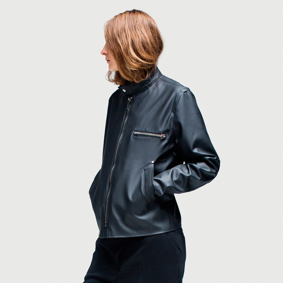 Rain Jacket for Women-Södermalm Black