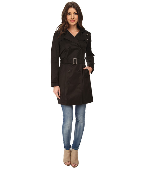 Black Trench Coats For Women - Double Breasted - Cole Haan
