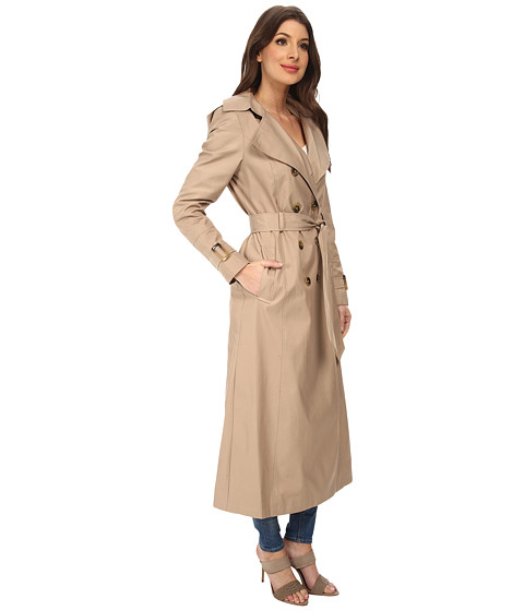 DKNY Long Maxi Belted Ladies Trench Coat with Hood