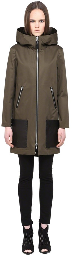 Divya Khaki full lenght Trench Coat With Hood