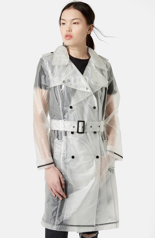Clear Trench Coat, Plastic Trench Coat