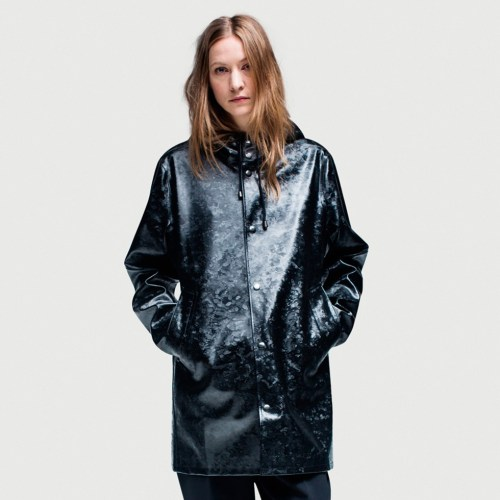 Rubberized Cotton Raincoat for Ladies