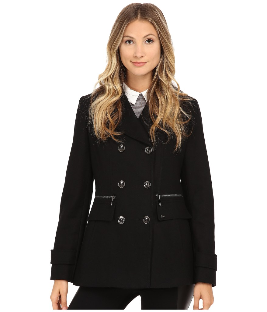 MICHAEL Michael Kors Wool Double-Breasted Peacoat for Ladies