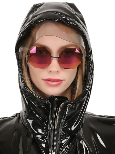 Womens Shiny Raincoat