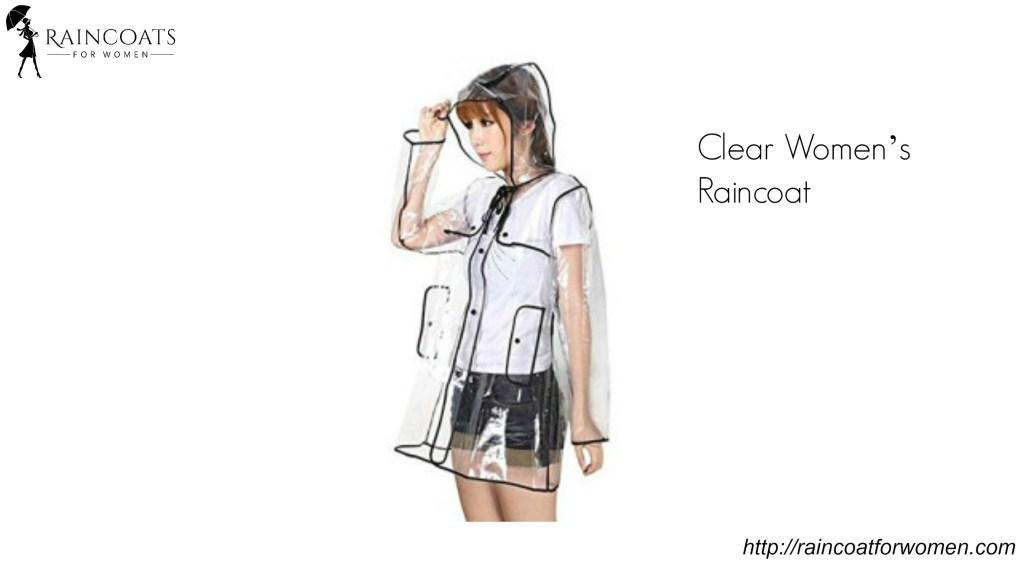 Clear Women's Raincoat