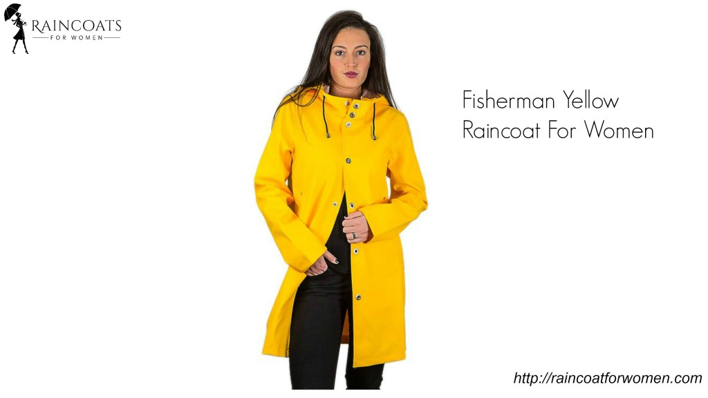 Fisherman Yellow Raincoat For Women