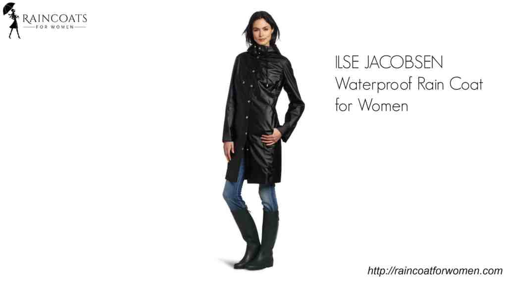 ILSE JACOBSEN Waterproof Rain Coat for Women