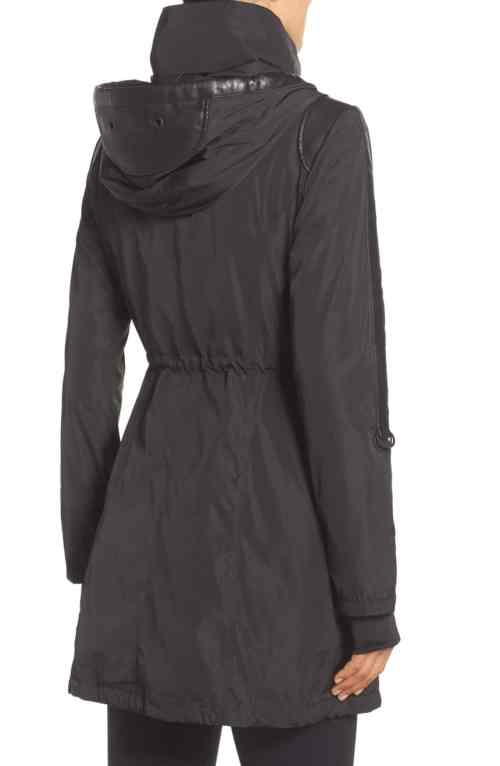 Blanc Noir Women's Hooded Water Resistant Anorak