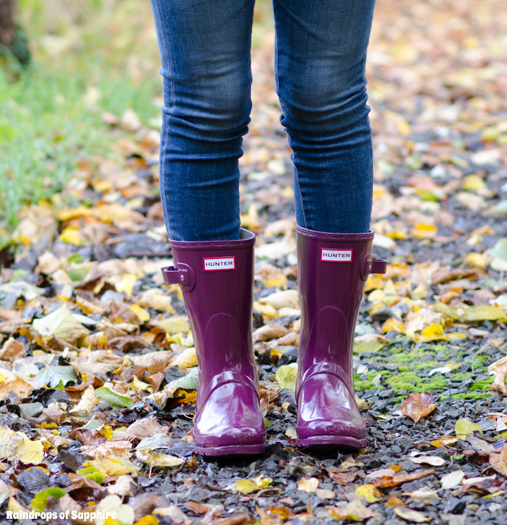 Hunter Short Dark Ruby Gloss Wellies Amp Jeans Outfit