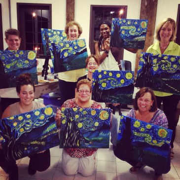 Amber at my Starry Night painting party September 2014