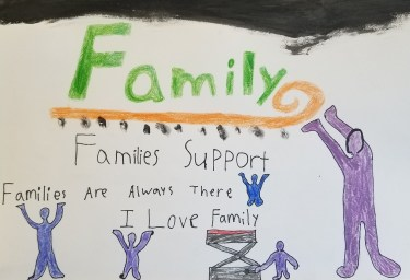 Families support Families are always there I love family