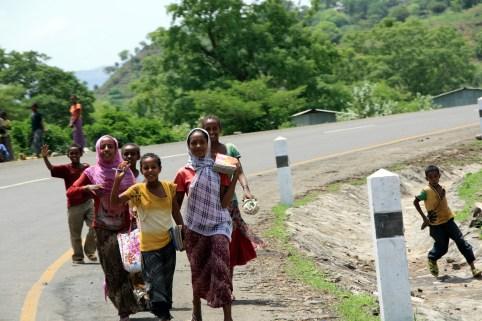 Driving through rural Ethiopia