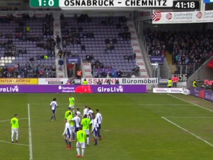 Mit echten Spielzügen vor allem bei Dercho, Reimerink (unser spielender Holländer) und Wriedt schöne 1:0-Führung durch Sangaré zum Pausentee.